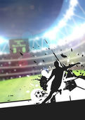 Soccer sport background — Stock Photo