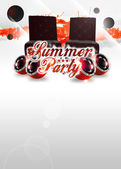 Summer party background — Stock Photo