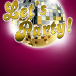 Foto Stock: Let's party background