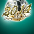 Stock Photo: 2014 happy new year party background