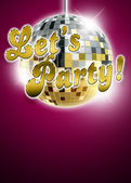 Let's party background — Stock Photo