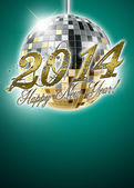 2014 happy new year party background — Stock Photo