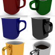 Stock Photo: Coffee mugs