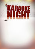 Karaoke music poster — Stock Photo