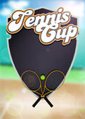 Tennis sport cup background — Stock Photo