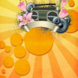 Stock Photo: Retro summer party background
