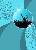 Party invitation background — Stock Photo