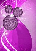 Disco zrcadlová koule pozadí — Stock fotografie
