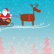 Santa and reindeer christmas background — Stock Photo #36899903