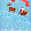 Santa and reindeer christmas background — Stock Photo #36899943