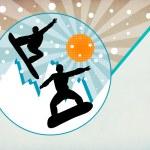Snowboard background — Stock Photo #37562267