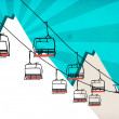 Chairlift winter sport background — Stock Photo #37562403