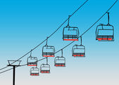 Chairlift winter sport background — Stock Photo