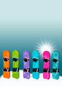 Snowboard background — Stock Photo
