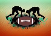 アメリカン フットボールの背景 — ストック写真