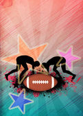 American football background — Stock Photo