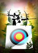 Archery poster — Stock Photo