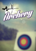 Archery poster — Stockfoto