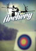 Archery poster — Foto de Stock