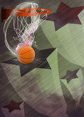 Baketball hoop and ball background — Foto de Stock