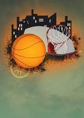 Koszykówka tło — Zdjęcie stockowe