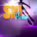 Skiing background — Stock Photo #39945883
