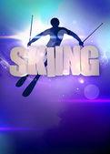 Skiing background — Stock Photo