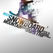 Snowboard background — Stock Photo #39994923
