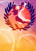 Handball girl background — 图库照片