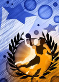 Handball girl background — Stock Photo