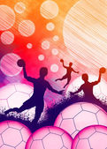 Handball girl background — Foto Stock