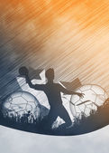 Handball man background — Stock Photo
