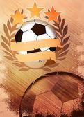 Piłka nożna i piłka nożna tło — Zdjęcie stockowe