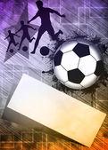Sfondo di calcio o calcio — Foto Stock