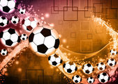 サッカーまたはフットボールの背景 — ストック写真