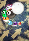 Billiard background — 图库照片