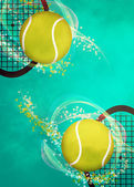 Tennis background — Stockfoto