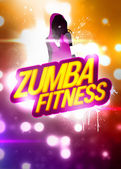 Zumba fitness training background — Stock Photo