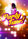 Party time background — Stock Photo