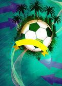 El fútbol o el fútbol de fondo — Foto de Stock