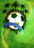 Football or soccer background — Stockfoto