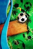 Football or soccer background — Stok fotoğraf
