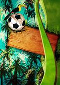 Football or soccer background — ストック写真