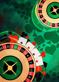Roulette background — Stock Photo