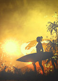Surf background — Stock Photo