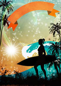 Surf background — Foto Stock
