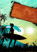 Surf background — Photo