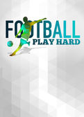 Football or soccer background — Stockfoto