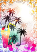 Cocktail background — Stockfoto