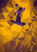 Volleyball flat polygon background — Photo